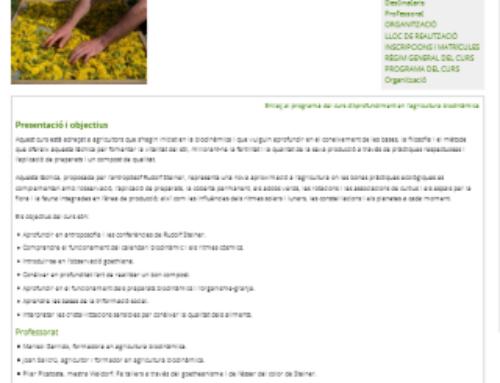 Escola Agrària de Manresa – Aprofundiment en agricultura biodinàmica